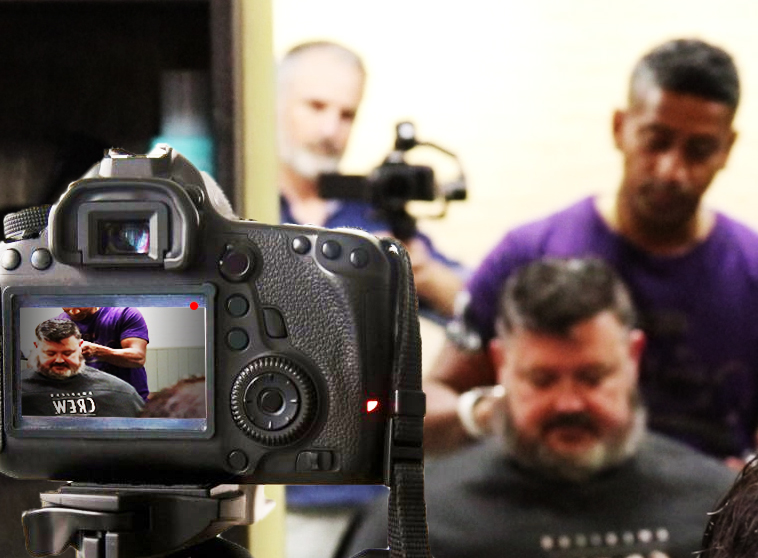 On Location with K-Line Barbers - Promo Video Shoot