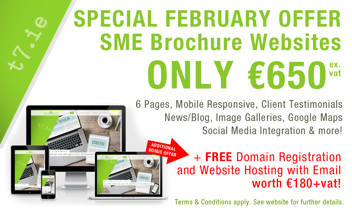 February Special Offer - SME Websites for ONLY €650