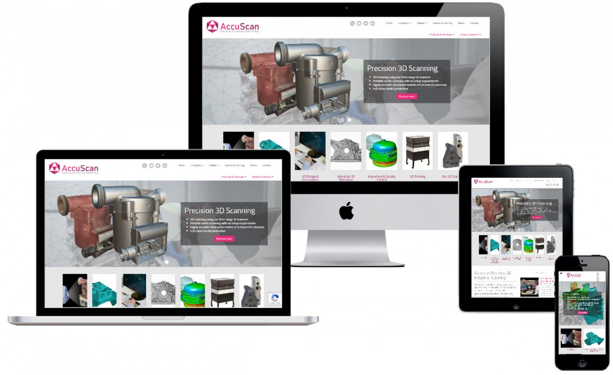 Branding & Website Development for 3D Scanning company Accuscan
