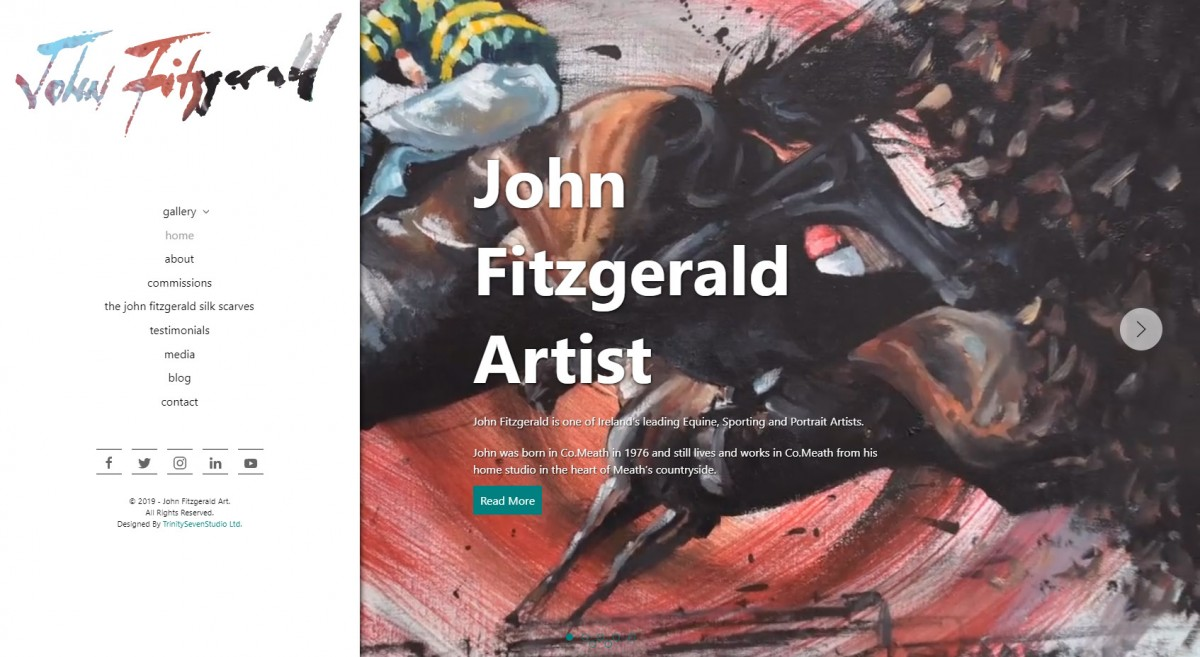 John Fitzgerald Art - Fine Art Deserves An Amazing Website